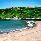 <br /> Lapping Tide, River Avon, Bantham.<br /> Original Acrylic Painting On Paper,<br /> Image Size - 31.5 x 32 cm,<br /> Glazed and Framed,<br /> £595<br />