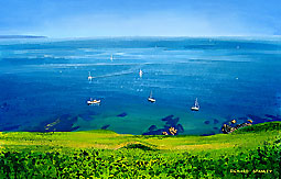 <br /> Sailing on Turquoise water, Start Bay.<br /> Original Acrylic Painting On Paper,<br /> Image Size - 40 x 26.2 cm,<br /> Glazed and Framed,<br /> £625<br /> SOLD<br />