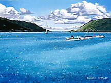 <br /> Salcombe Harbour.<br /> Original Acrylic Painting On Paper,<br /> Image Size - 30.4 x 23.3 cm,<br /> Glazed and Framed,<br /> £495<br />